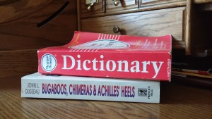 Dictionary on a roll-top desk